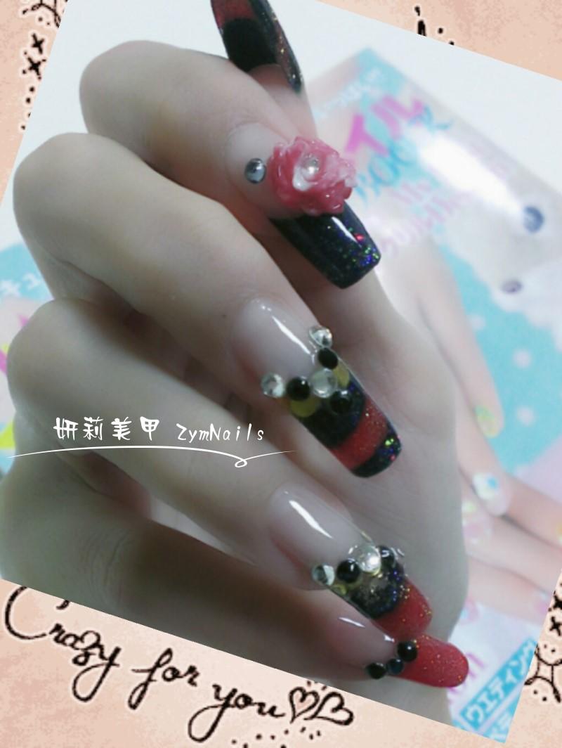 水晶指甲作品09
