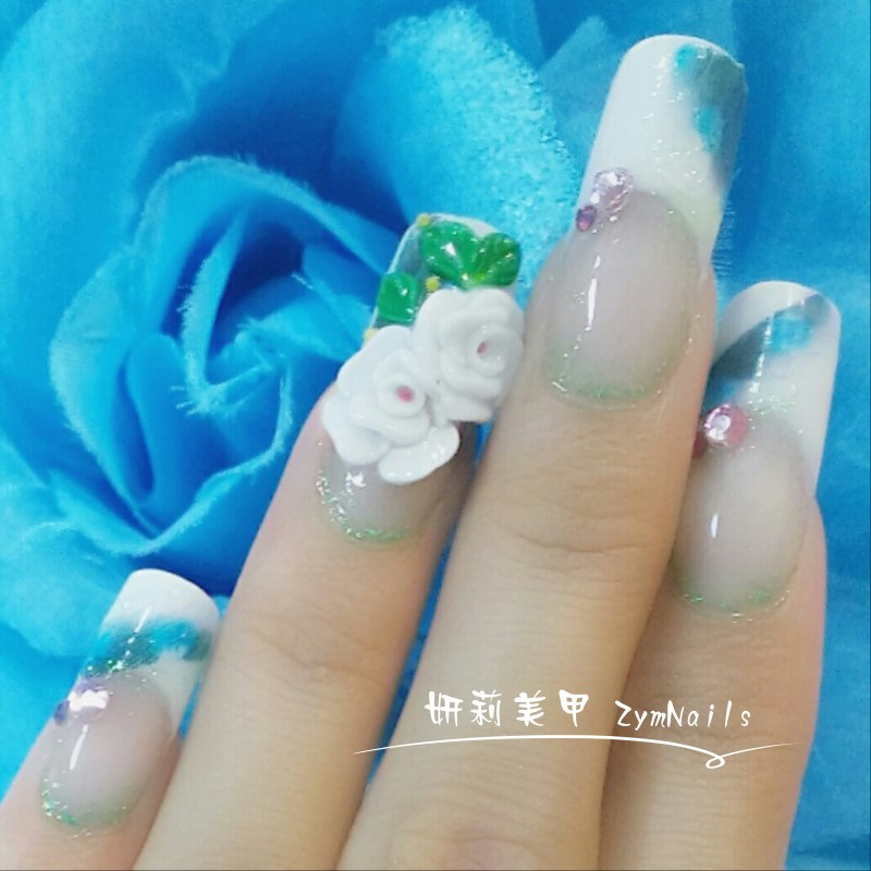 水晶指甲作品12