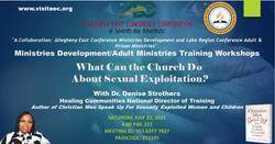 Allegheny East Conference Workshop