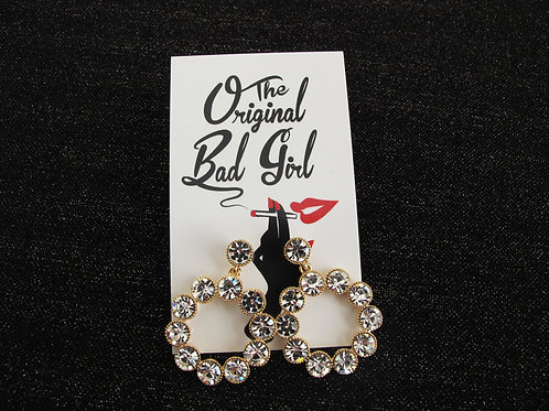 The Starlet Sparkle Dangle hoops