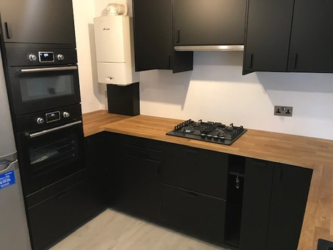 Kitchen installation in black