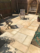 Sandstone patio South London
