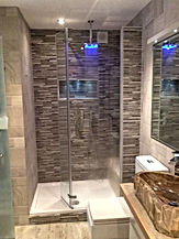 Mosaic shower room Surrey