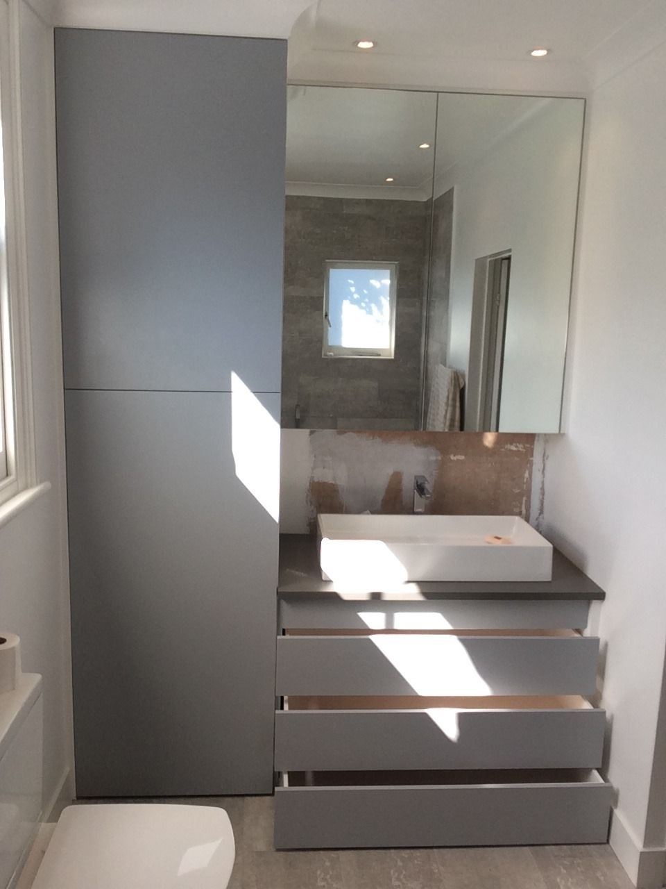 Handmade bathroom storage