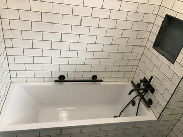 Industrial style inspried bath and wetroom, London Bridge