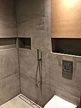 Wetroom with cement tiles