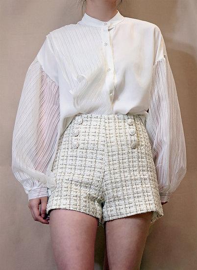 High Waisted Straw Shorts