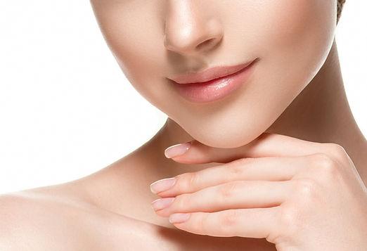 Woman lips chin neck beautiful skin age