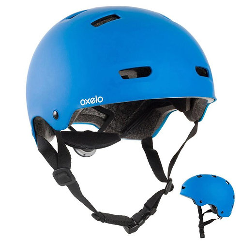 ШЛЕМ для катания на роликах, скейтборде, велосипеде MF 500 OXELO синий