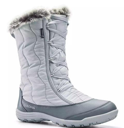 САПОГИ женские зимние SH500 X-WARM QUECHUA белая ночь