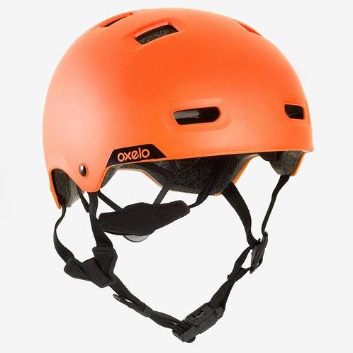 ШЛЕМ для роликов, скейтборда, самоката MF540 OXELO оранжевый флуросцентный