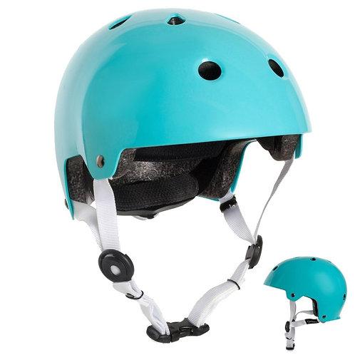 ШЛЕМ для катания на скейтборде, самокате, велосипеде PLAY 5 бирюзовый