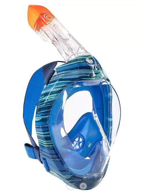 МАСКА оригинальная для снорклинга  SUBEA  Easybreath 500 синий морской камуфляж