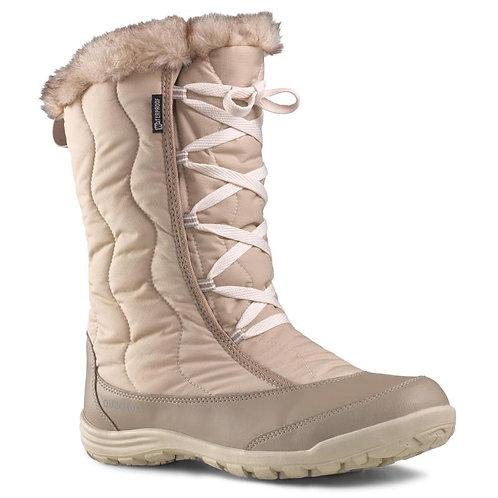 САПОГИ женские зимние SH500 X-WARM QUECHUA беж