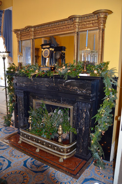 fireplace mantle and hearth