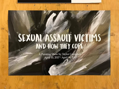 SEXUAL ASSAULT VICTIMS AND HOW THEY COPE: gallery sign