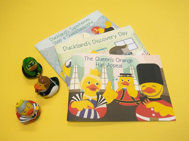 Ducks for Change Illustrated Children's Books for the DM Thomas Foundation