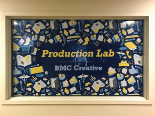 """We Are BMC Creative"" Pattern Window Cling"