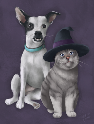 Pet Portrait: Pup and Wiz