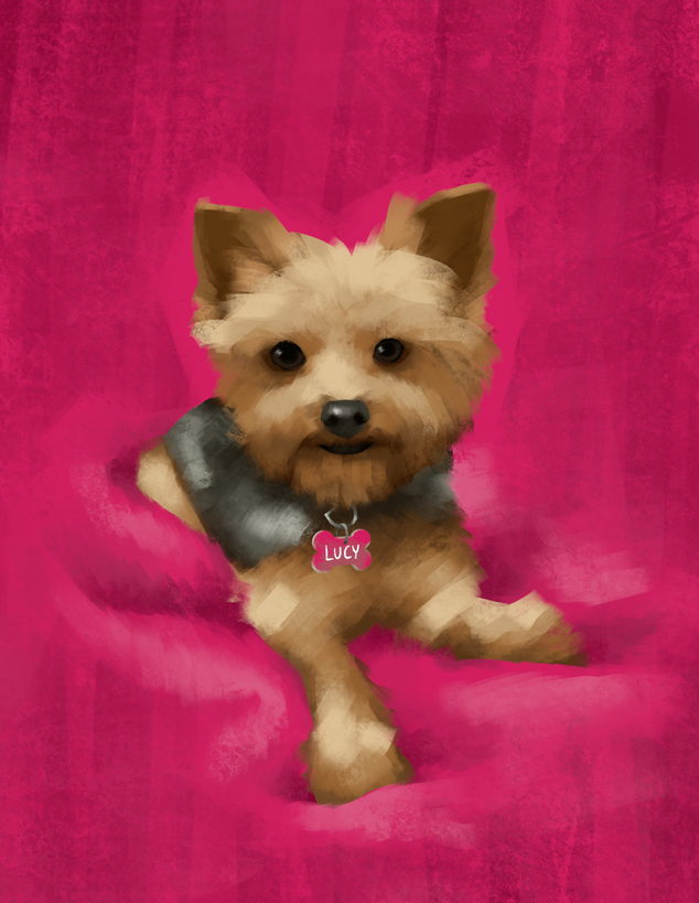 Pet Portrait: Lucy Liu