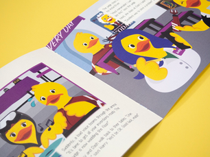 """A spread from """"Duckland's Discovery Day""""."""