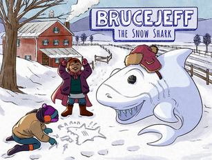 BruceJeff theSnow Shark Children's Book Cover