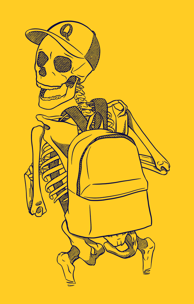 Skeleton Kid T-Shirt Design