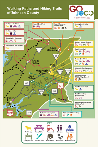 GoJoCo Trail Awareness Brochure Map