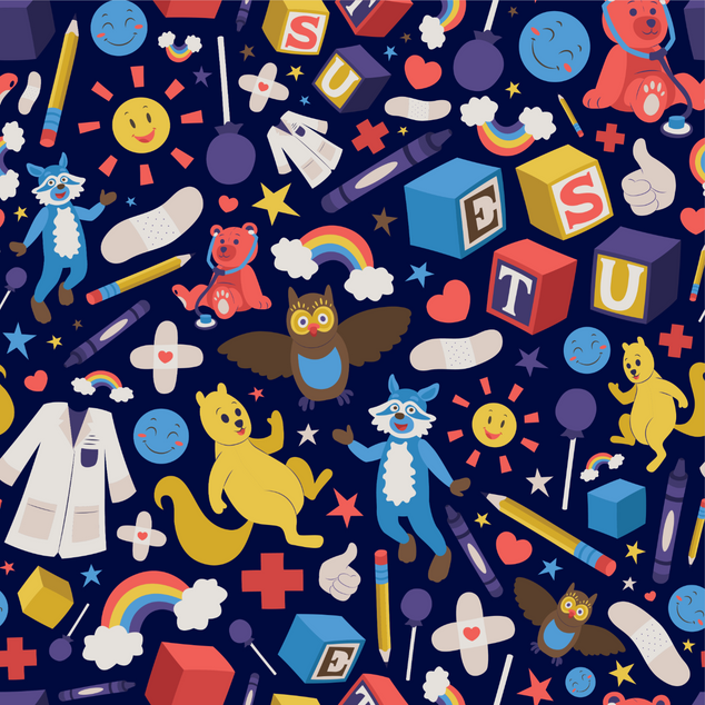 Read N' Play Pediatrics Clinic Pattern Design