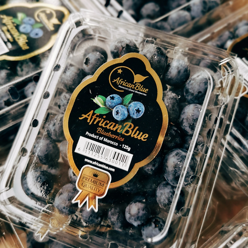 AfricanBlue Blueberries (125g)