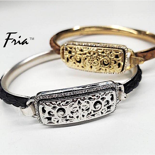 Cooling Bracelet with Rhodium Mesh Band