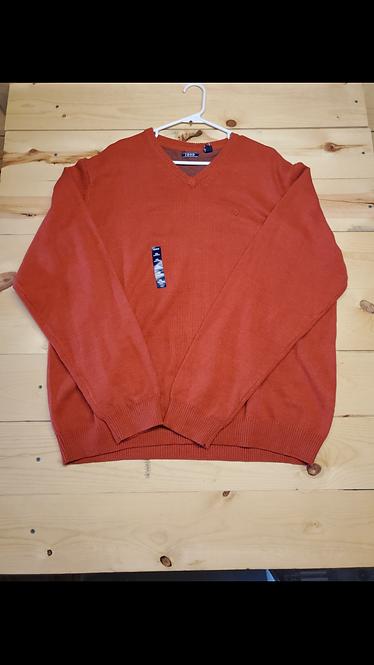 Izod Ketchup VNeck Sweater Men�s XXL
