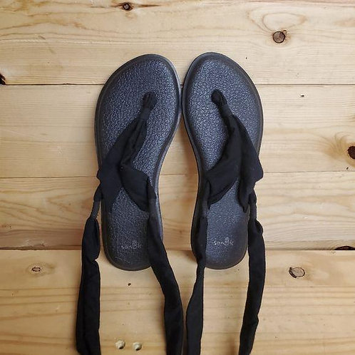 Sanuk Yoga Slinged Up Sandals Women's Size 8