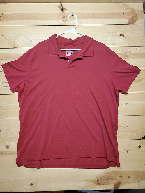 Mossimo Supply Co. Athletic Fit Half Button Polo Men's T-Shirt Size 2XL