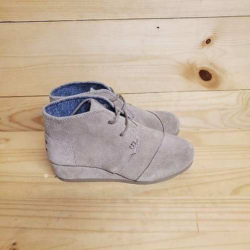 Toms Taupe Suede Girls Size 2