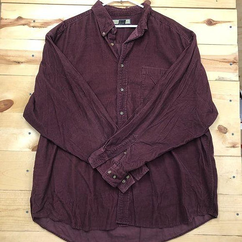 Natural Life Cord Button Down Mens XXL
