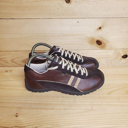 Skechers Brown Leather Shoes Women's Size 10