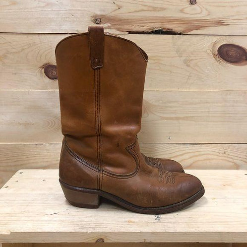 Old West Leather Cowboy Boots Men's Size 10