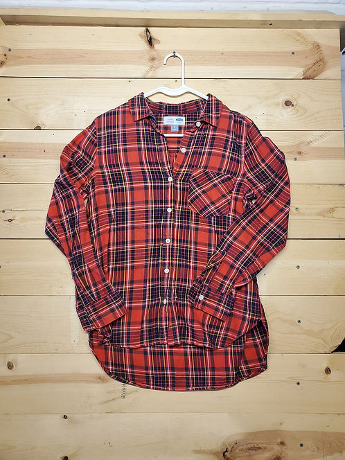 Old Navy Classic Plaid Button Up Women's Long Sleeve Size S
