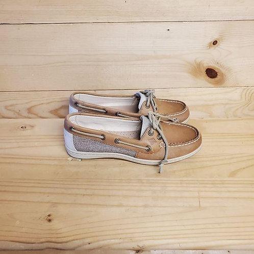 Sperry Firefish Linen Oat Boat Shoe Women's 6.5