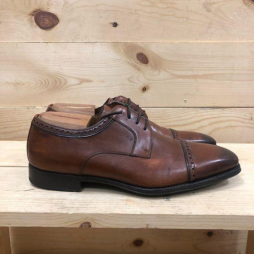 Magnanni Leather Oxfords Mens Size 10