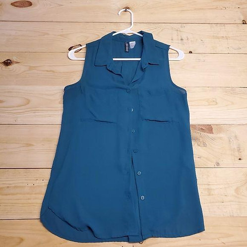 H&M Divided Button Up Top Women's Size 2
