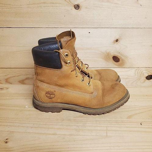 Timberland Wheat Nubuck Boots Women's Size 7.5