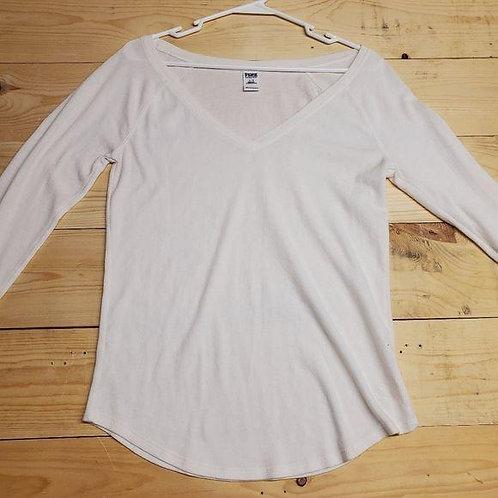 Pink V-Neck Sleepwear 70817 Women's L