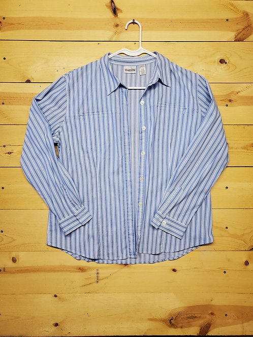 Chicos Button Up Women's Long Sleeve Size 2