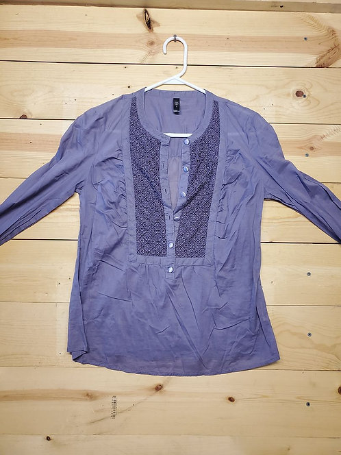 Old Navy Half Button Up Women's Long Sleeve Size M
