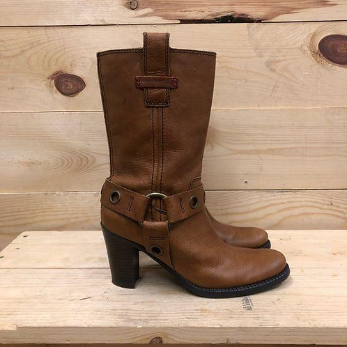 Tommy Hilfiger Leather Boots Women's Size 6.5