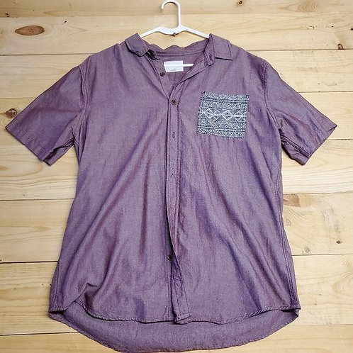 On The Byas Button Up Polo Men's L