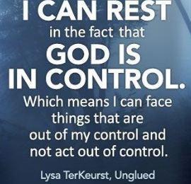 Control Less, Pray More!