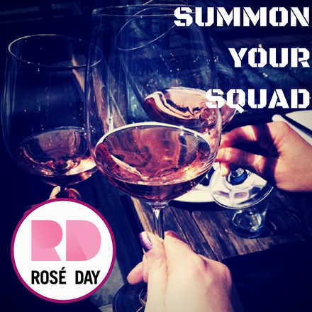 Rosé Day is a team sport. Come on ladies, let's get in-formation!!